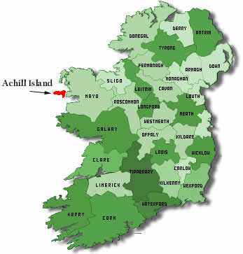 Map Of Ireland Knock.Keel Sandybanks Camping Caravan Park Map Of Ireland